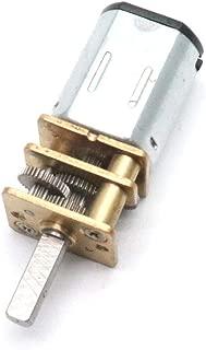 Hxchen DC 6V 60RPM Mini Metal Gearwheel Gear Motor 3mm Shaft for Robot Wheel DIY Toys - (1 Pc)