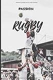 Passion Rugby: Carnets de notes spécial Rugby | 100pages | 13,3x20,3cm | idée cadeau