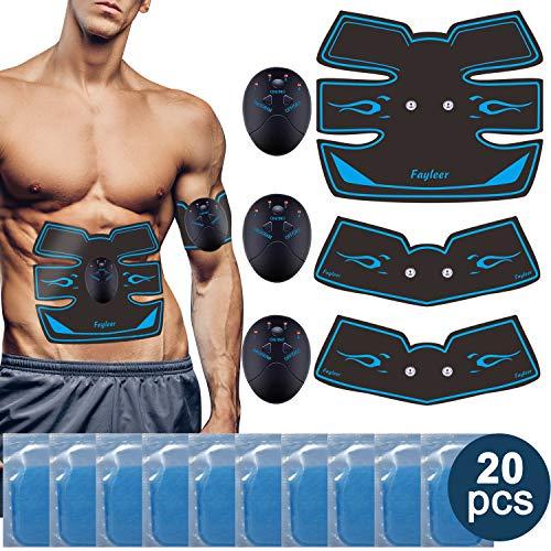 fayleer Elettrostimolatore Muscolare ABS, Elettrostimolatore per Addominali Portatile Trainer con ABS Stimolatore per Addome/Braccio/Gambe/Waist/Glutei/Uomo&Donna