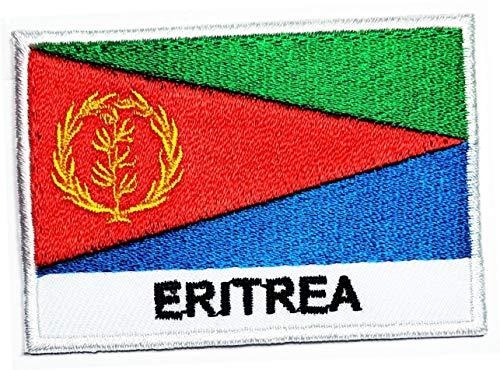 Eritrea Flagge, Länderflicken, internationale Flagge, bestickt, zum Aufnähen, für Kleidung, Tasche, T-Shirt, Jeans, Biker, Abzeichen DIY Fashion Kostüm (07)