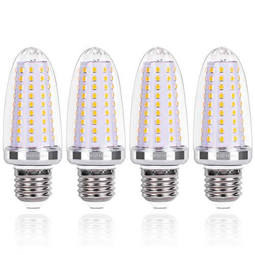SanGlory 14W E27 LED Maiskolben, LED E27 Glühbirnen Warmweiß 3000K 1580LM statt 120W Glühlampe Nicht Dimmbar Energiesparlampe E27 LED Mais Birne Kerze Leuchtmittel E27 AC220-240V, 4er Pack