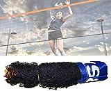 Jilijia Red de voleibol plegable ajustable de 3 a 6 metros, mini tenis y...