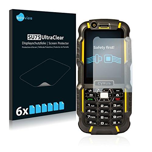 Savvies 6X Schutzfolie kompatibel mit Cyrus cm 15 Bildschirmschutz-Folie Ultra-transparent