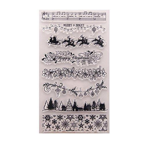 Fliyeong Weihnachtsbaum DIY Silikon Clear Stamp Cling Seal Sammelalbum Präge Album Decor langlebig und nützlich