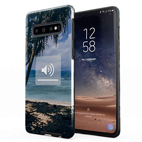 Funda Para Samsung Galaxy S10 Hot Summer Beach Chill Music Full Sound Good Vibes Tumblr, Resistente a los Golpes, Carcasa Dura de PC de 2 Capas + Funda Protectora de Diseño Híbrido de TPU