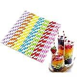 1000/600/300 pajitas de papel de colores orgánicos, pajitas de papel multicolor para el hogar, bar,...