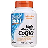 AMAZON #1 BEST SELLER - DOCTOR'S BEST HIGH ABSORPTION COQ10: Easy-to-absorb form of a key nutrient that powers and protects heart vitality, cardiovascular health and cellular energy*.  CoQ10 also supplies antioxidant support to the heart, where it is...