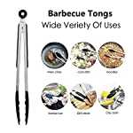 "iNeibo Kitchen Silicone Tongs 9"" - Heat Resistant with Easy Grip and Smart Padlock System for BBQ, Serving, Frying… 5"