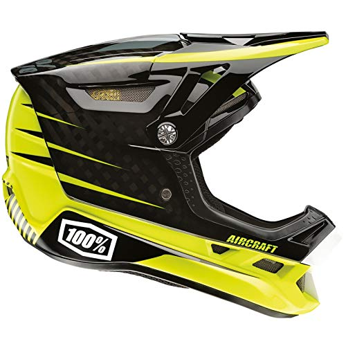 Casco Integrale Mtb 100 Percent Aircraft Dh - With Mips Basetech (S , Nero)