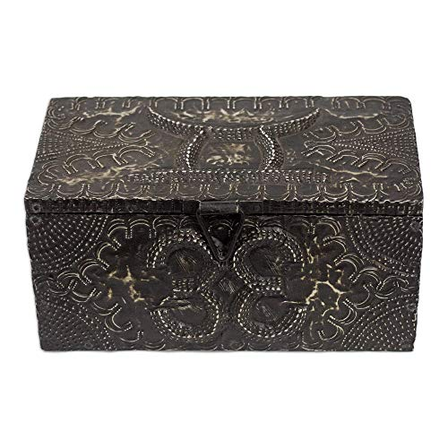 NOVICA Handcrafted Wood and Aluminum Jewelry Box, King