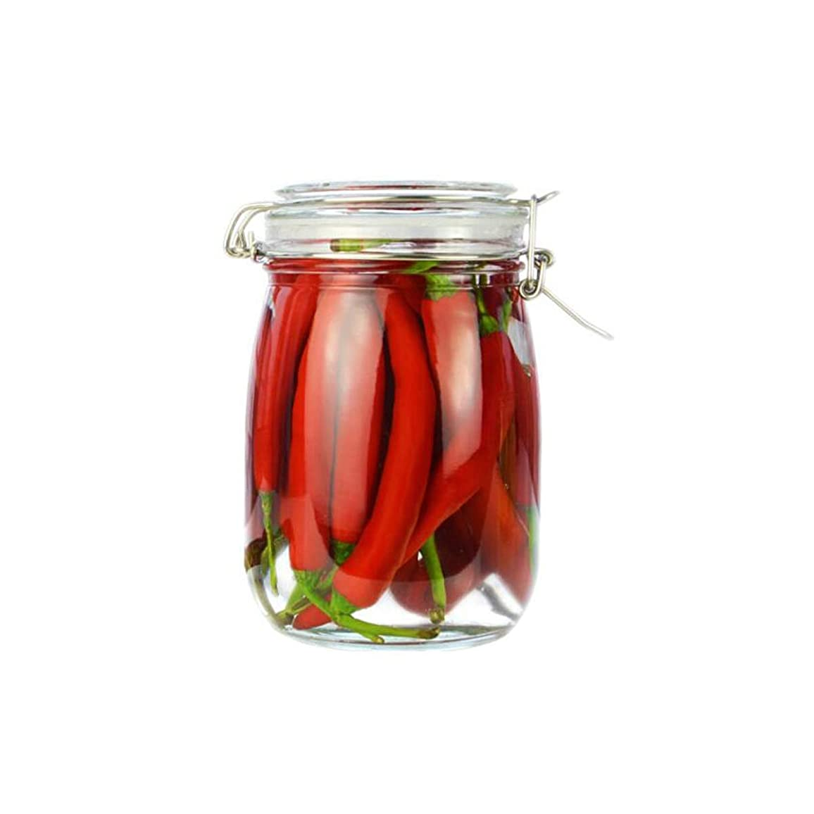 テレビ局パイプライン純正HXSD 丸い厚いガラスの密封された缶、収納ボトル、密封された缶、ガラスの瓶1100ml 貯蔵タンク、 (Color : A1)