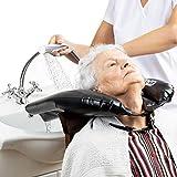 Gads Aufblasbares Haarwaschbecken - Leichtes, Mobiles Waschbecken - Hilfsmittel für Behinderte, Bettlägerige, Senio-ren - Haarwaschhilfe Kinder - Verstellbarer Gurt, Kein Verschütten, Haarwaschschale