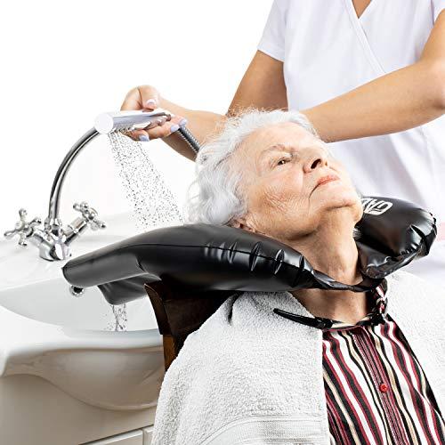 Gads Lavacabezas hinchable – Lavabo ligero y portátil – Herramienta para discapacitados, postres de cama, personas mayores, ayuda para lavar el pelo para niño