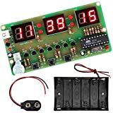 Youmile Digital Clock DIY Kit 6Bits C51 AT89C2051 Chip Electronic Alarm Clock Kit PCB Board Solding Practice FR-4 para Arduino con soporte de batería
