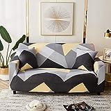 WXQY Fundas de celosía geométrica Funda de sofá elástica Funda de sofá de protección para Mascotas Funda de sofá con Esquina en Forma de L Funda de sofá con Todo Incluido A31 2 plazas