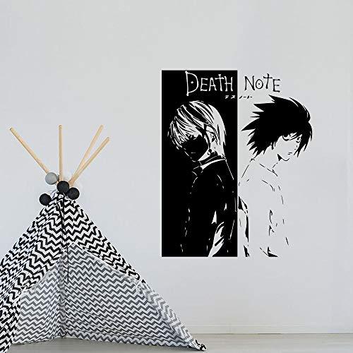 Anime Cartoon Comics Manga Death Note L Lawliet Killer Yagami Light Wall Sticker Vinyl Decal Boy Fans Bedroom Living Room Club Studio Home Decor Mural