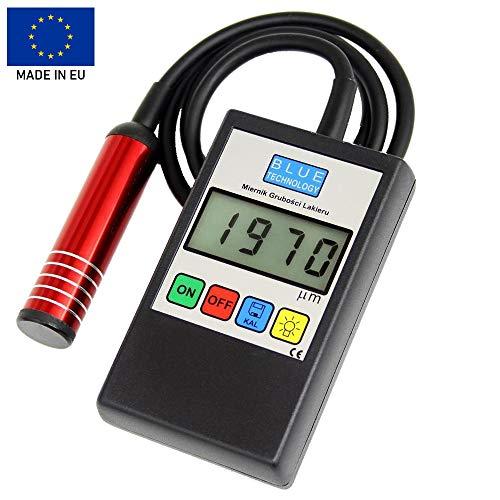 Blue Technology MGR-11-S-AL Schichtdickenmessgerät Lacktester Lackschichtenmesser | Stahl & Aluminium | Hergestellt in EU