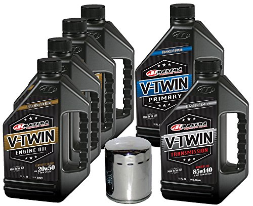 MaximaHiflofiltro VTTOCK22 Complete Engine Oil Change Kit for V-Twin Synthetic Blend Harley Davidson Twin Cam, 6 Quart