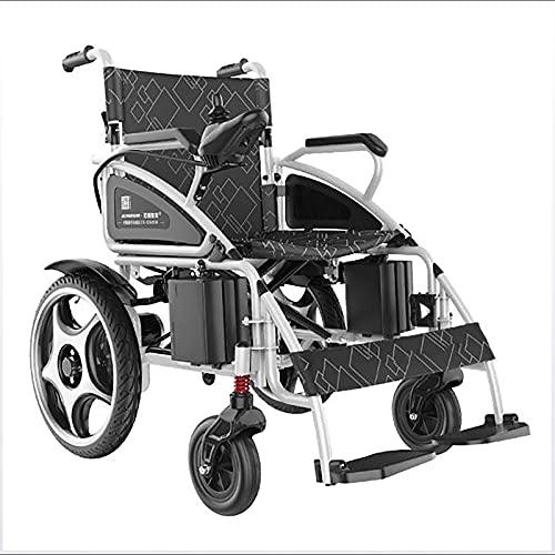 Rueda trasera de 16 pulgadas que absorbe la silla de ruedas con silla de ruedas elegante elegante, plegable en el tronco del automóvil, scooter de viaje portátil para los ancianos