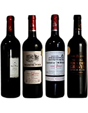 ソムリエ厳選 フルボディ 神の雫掲載モンペラ入り格上コート・ド・ボルドー 飲み比べ 金賞 赤ワイン4本セット 750ml 4本