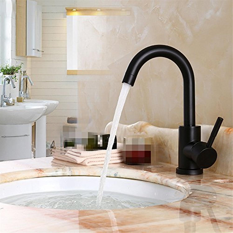 Yuyu19-SLT Wasserhahn Küche Einhebelmischer Spültisch Armatur Küchenarmatur Spültischarmatur Spülbecken Mischbatterie Schwarzer Edelstahl kann gedreht Werden, kurz