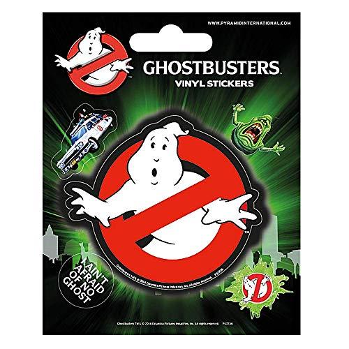 Set of 5 Genuine Ghostbusters Logo Vinyl Stickers Gadget Decals