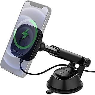 Spigen OneTap Pro Ontworpen voor Magsafe Fast Wireless Car Charger Mount (Magnetisch zweven en snel opladen van iPhone 12-...