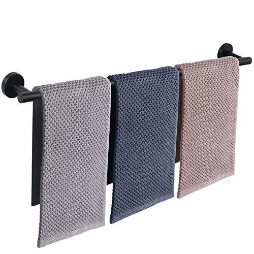 NearMoon Bathroom Towel Bar, Bath Accessories Thicken Stainless Steel Shower Towel Rack for Bathroom, Towel Holder Wall Mounted (Matte Black, 33 Inch)
