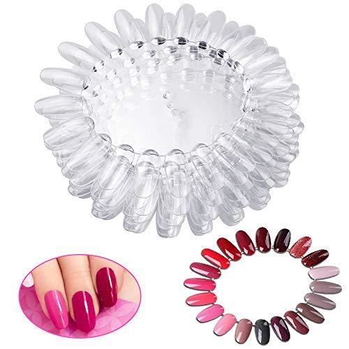 LYTIVAGEN 20 Pcs Nagel Farbpalette Nagel Tip Ausstellung Transparente Nail Art Farbkarte Kunststoff...