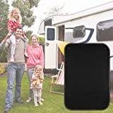 """LATCH.IT RV Door Window Cover Shade   16 x 24.75"""" Total Blackout RV Door Shade Fabric w/Max Stretch of 1 Inch!   RV Window Shades   Get Instant Cooling and UV Protection w/Our RV Door Window Shade!"""