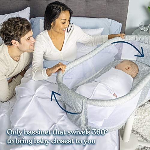 HALO BassiNest Swivel Sleeper, Bedside Bassinet, Essentia Series, Morning Mist