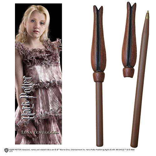 Noble Collection - Penna Bacchetta di Luna Lovegood e Segnalibro - Harry Potter NN7998