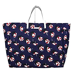 Fashion Shopping Gucci Canvas Blue Parasol Print Large Tote Handbag 286198 4160