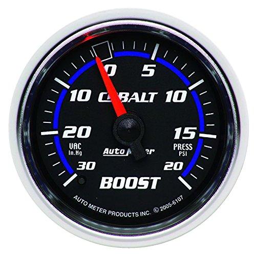 Auto Meter 6107 Cobalt Mechanical Boost / Vacuum Gauge, 2.3125 in.