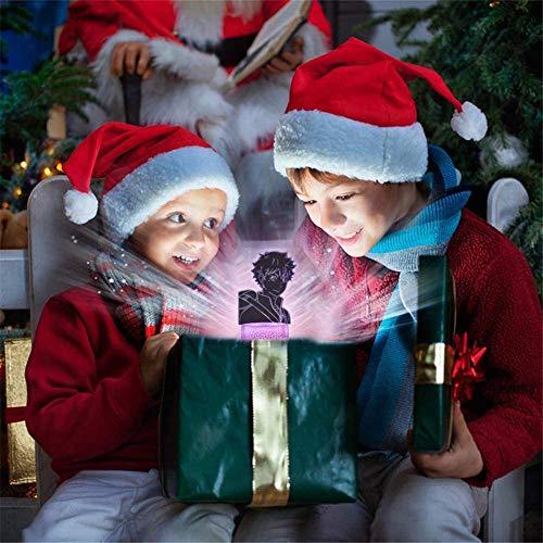 3D Illusion Night Light Haikyuu Kozume Kenma and Shoyo Hinata Figure Night Light, Haikyuu Toys Anime Lamp 16 Color Change Decor with Remote Control, Perfect Gift for Kids and Haikyuu Fans
