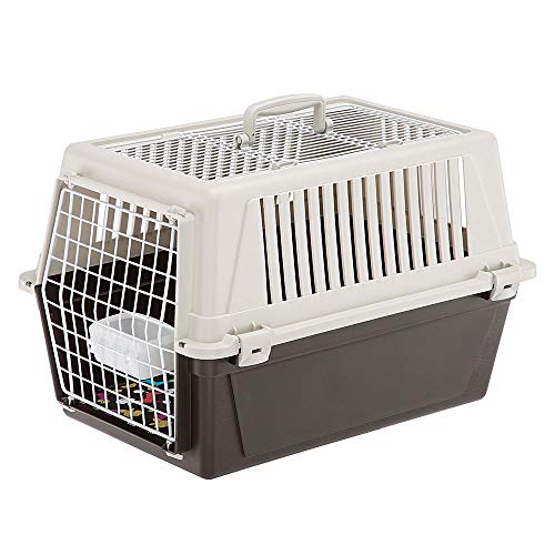 Ferplast Atlas 30 Open Trasportino per Piccoli Cani e Gatti Max 12 kg con Cuscino e Ciotola, Tetto Apribile