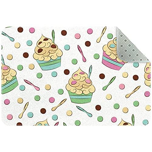 chuangxin Las alfombras redondeadas Fashional son redondas en formas verticales y horizontales, y las alfombras de área de fibra natural protegen el suelo, linda crema de yogur congelado
