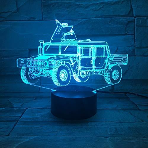 jiushixw 3D acryl nachtlampje met afstandsbediening van kleur veranderende lamp Kran kind geschenk tafellamp schroef accessoires