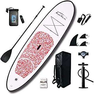 """FEATH-R-LITE Inflatable 10'×30""""×6"""" Ultra-Light (17.6lbs) SUP for All Skill Levels Everything Included with Stand Up Paddle Board, Adj Paddle, Pump, ISUP Travel Backpack, Leash, Waterproof Bag"""