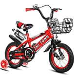 Kids' Balance Bikes, Toddlers Bike for Kids 2-5 Years Old Or 35-41Inch Tall, Freestyle BMX Bicycle Children Bikes with Basket [US in Stock]