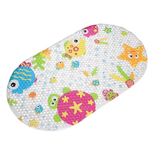 Ulable Badewannenmatten für Kinder/Baby/Kinder, rutschfest, mit starken Saugnäpfen, umweltfreundliches PVC, Marinemuster.