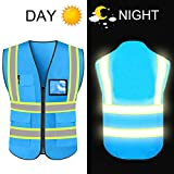 High Reflective Visibility Safety Vest Protective Safety Workwear with...