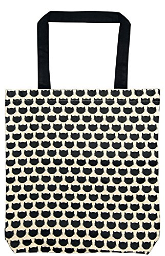 Moses. Ed, The Cat Shopper Cats Allover Umhängetasche, 42 cm, schwarz