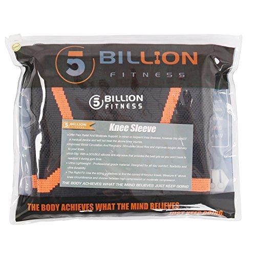 1 par Baloncesto 5BILLION Soporte de Rodilla Rodillera Manga de Compresi/ón Transpirable para aliviar el Dolor Deportes Correr Lesiones