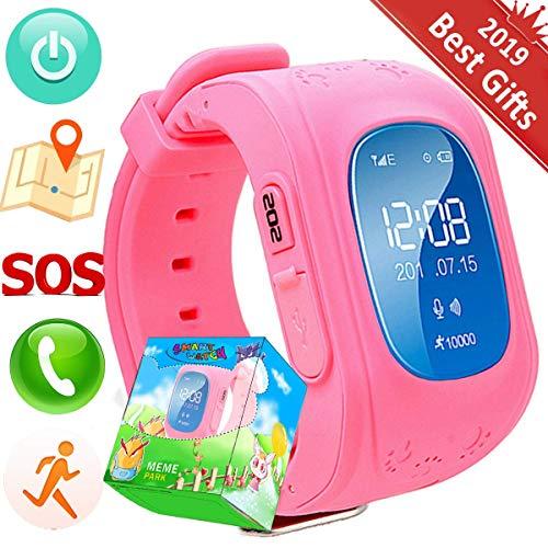 TurnMeOn GPS Tracker Bambini Smartwatch Phone per Ragazzi Ragazze con SIM Chiamate Anti-Perso SOS Braccialetto Giocattolo per Android iOS Smartphone