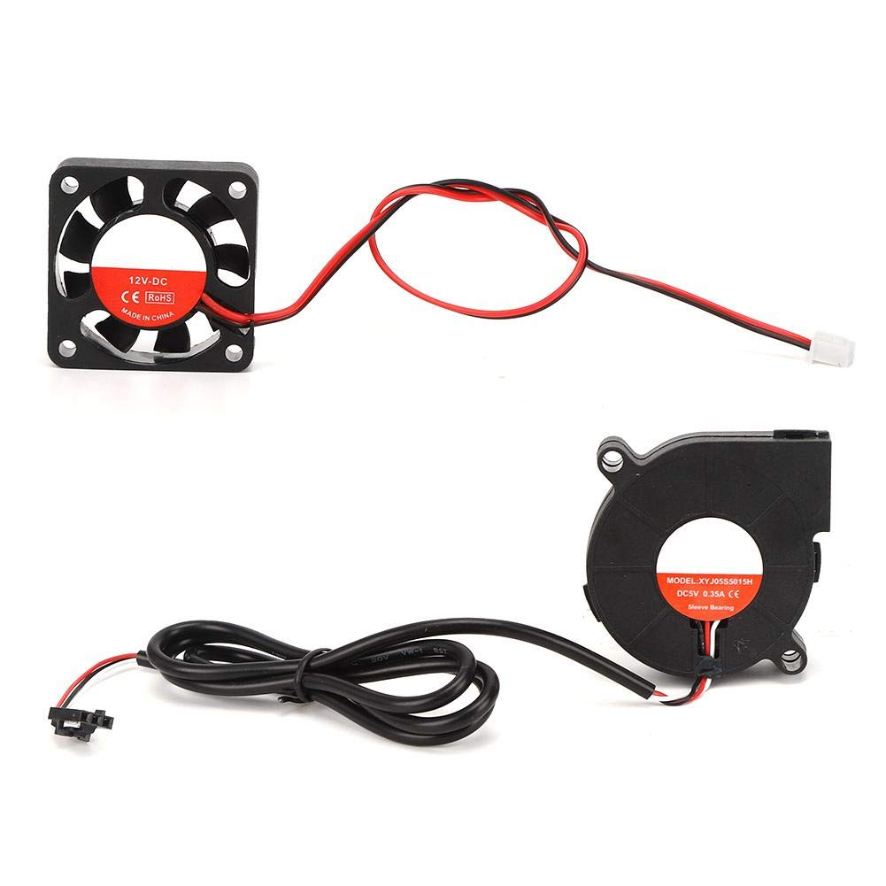 DC Fan Turbo Fan Set, 5V for Prusa i3 MK3 / 3S MK2 / 2.5 5V Electric Parts for 3D Printer Accessories