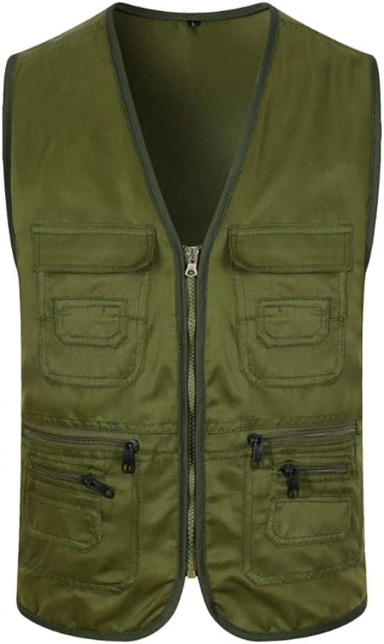 HYFDGV Fishing Vests for Men Casual Multi-Pocket Vest Ja Superior SEAL limited product