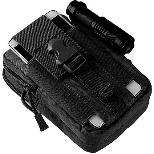 Lynko tactique Molle Pouch Sac – EDC Utility Gadget Sac banane Lot de camping/randonnée Gear – Téléphone portable Holster support