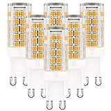 Globe-Warehouse - Lampadine a LED G9, 5 W, AC220V-240 V, attacco G9, luce bianca calda, 3000 K, 6 pz