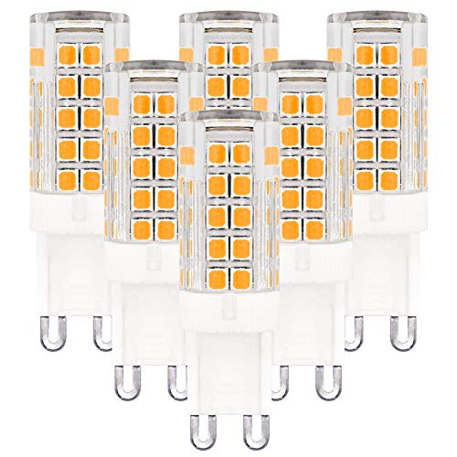 LED G9 Lampen 5W Equivalent aan 25-40W Halogeen Lamp Vervanging AC 220-240V, LED G9 Warm Wit 3000K voor Home verlichting 6-Pack